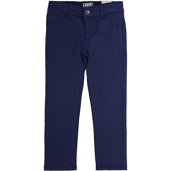 Брюки iDO для мальчикаБрюки<br>Характеристики товара:<br><br>• цвет: синий<br>• состав ткани: 100% хлопок<br>• сезон: круглый год<br>• пояс: резинка<br>• шлевки<br>• страна бренда: Италия<br><br>Удобные детские брюки выполнены в универсальной расцветке. Эти брюки для ребенка разработаны итальянскими дизайнерами популярного бренда iDO, который выпускает модные и удобные вещи для детей. Брюки для мальчика выполнены из дышащего натурального хлопка.<br><br>Брюки iDO (АйДу) для мальчика можно купить в нашем интернет-магазине.