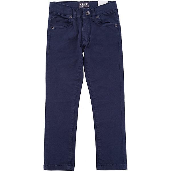 Брюки iDO для мальчикаДжинсы и брючки<br>Характеристики товара:<br><br>• цвет: синий<br>• состав ткани: 95% хлопок, 5% синтетическое волокно<br>• сезон: круглый год<br>• застежка: пуговица<br>• шлевки<br>• страна бренда: Италия<br><br>Такие детские брюки отличаются прямым силуэтом и наличием шлевок. Синие брюки для ребенка созданы дизайнерами известного итальянского бренда iDO. Брюки для мальчика выполнены из качественного материала. <br><br>Брюки iDO (АйДу) для мальчика можно купить в нашем интернет-магазине.