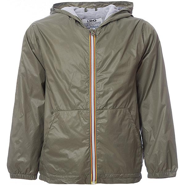 Куртка iDO для мальчикаВерхняя одежда<br>Характеристики товара:<br><br>• цвет: хаки<br>• состав ткани: 100% полиэстер<br>• подкладка: 100% полиэстер<br>• утеплитель: нет<br>• сезон: демисезон<br>• особенности модели: с капюшоном<br>• застежка: молния<br>• страна бренда: Италия<br><br>Легкая куртка для мальчика сделана из практичного безопасного для детей материала. Такая детская куртка от известного бренда iDO из Италии поможет создать модный и удобный наряд. Куртка для детей отличается стильным кроем и высоким качеством пошива.<br><br>Куртку iDO (АйДу) для мальчика можно купить в нашем интернет-магазине.<br>Ширина мм: 356; Глубина мм: 10; Высота мм: 245; Вес г: 519; Цвет: зеленый; Возраст от месяцев: 24; Возраст до месяцев: 36; Пол: Мужской; Возраст: Детский; Размер: 98,122,116,110,104; SKU: 7588208;