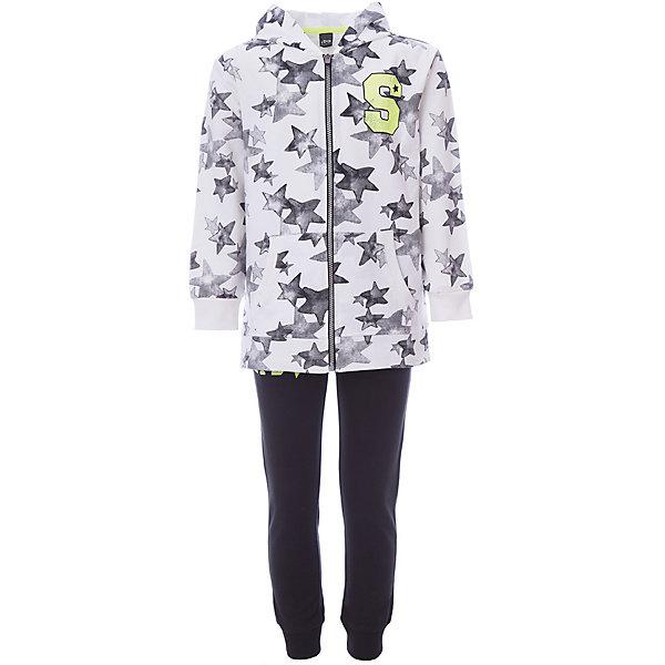Спортивный костюм iDO для мальчикаСпортивная одежда<br>Характеристики товара:<br><br>• цвет: белый<br>• комплектация: толстовка, брюки<br>• состав ткани: 100% хлопок<br>• сезон: демисезон<br>• особенности модели: спортивный стиль, с капюшоном<br>• застежка: молния<br>• пояс: резинка<br>• длинные рукава<br>• страна бренда: Италия<br><br>Удобный спортивный костюм для мальчика сделан из натурального хлопкового материала, он создает комфортный микроклимат для тела. Этот детский спортивный костюм - от итальянского бренда iDO, известного качественной и стильной одеждой для детей. Спортивный костюм для ребенка состоит из двух модных вещей. <br><br>Спортивный костюм iDO (АйДу) для мальчика можно купить в нашем интернет-магазине.