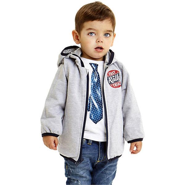 Куртка iDO для мальчикаВерхняя одежда<br>Характеристики товара:<br><br>• цвет: серый<br>• состав ткани: 100% полиэстер<br>• подкладка: 100% полиэстер<br>• утеплитель: нет<br>• сезон: демисезон<br>• особенности модели: двусторонняя, с капюшона<br>• застежка: молния<br>• страна бренда: Италия<br><br>Двусторонняя детская куртка сделана из качественного материала. Модная куртка для ребенка - от известного итальянского бренда iDO, который известен высоким качеством и европейским стилем выпускаемой одежды для детей. Куртка для мальчика поможет создать удобный и модный наряд в прохладную погоду.<br><br>Куртку iDO (АйДу) для мальчика можно купить в нашем интернет-магазине.<br>Ширина мм: 356; Глубина мм: 10; Высота мм: 245; Вес г: 519; Цвет: серый; Возраст от месяцев: 18; Возраст до месяцев: 24; Пол: Мужской; Возраст: Детский; Размер: 92,122,116,110,104,98; SKU: 7588323;