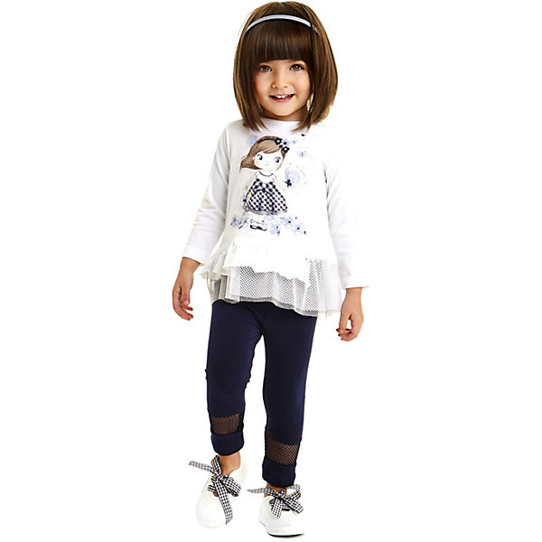 Фото iDO Комплект: футболка с длинным рукавом, леггинсы iDO для девочки