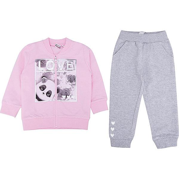 iDO Спортивный костюм iDO для девочки спортивный костюм для девочки adidas yg hood pes ts цвет розовый темно синий bs2151 размер 116