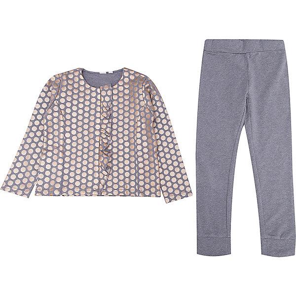 iDO Комплект: футболка с длинным рукавом, леггинсы iDO для девочки ido комплект футболка с длинным рукавом леггинсы ido для девочки