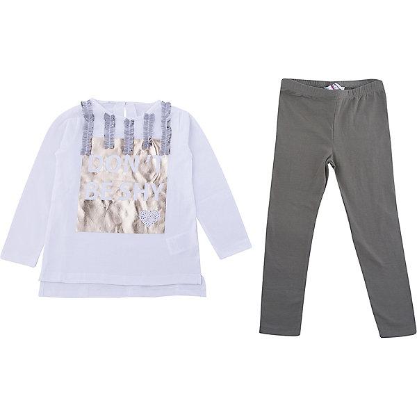 Фотография товара комплект: футболка с длинным рукавом, леггинсы iDO для девочки (7588411)