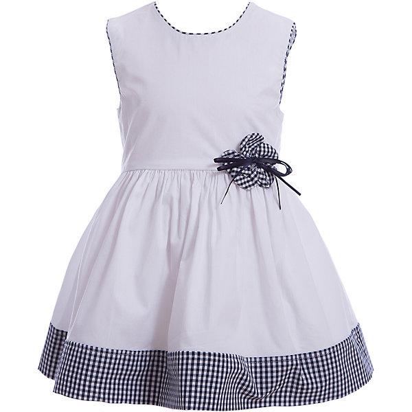 Платье iDO для девочкиНарядная одежда<br>Характеристики товара:<br><br>• цвет: белый<br>• состав ткани верха: 100% хлопок<br>• сезон: лето<br>• без рукавов<br>• страна бренда: Италия<br><br>Легкое детское платье длиной до колена - удобное и модное. Это платье для ребенка разработано специалистами бренда iDO, который выпускает стильные и качественные вещи для детей. Платье для девочки сделано из мягкого дышащего натурального хлопка.<br><br>Платье iDO (АйДу) для девочки можно купить в нашем интернет-магазине.<br>Ширина мм: 236; Глубина мм: 16; Высота мм: 184; Вес г: 177; Цвет: белый; Возраст от месяцев: 24; Возраст до месяцев: 36; Пол: Женский; Возраст: Детский; Размер: 116,110,104,98; SKU: 7588437;