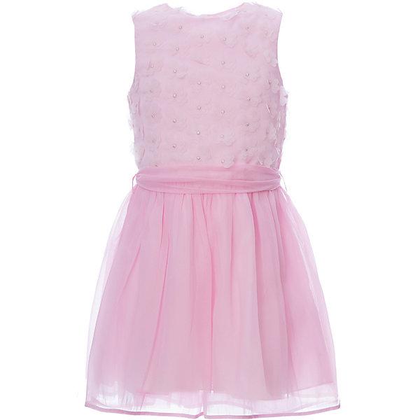 Нарядное платье iDOОдежда<br>Характеристики товара:<br><br>• состав ткани верха: 100% полиэстер<br>• подкладка: 95% хлопок, 5% синтетическое волокно<br>• сезон: круглый год<br>• без рукавов<br>• страна бренда: Италия<br><br>Детское платье - удобное и модное. Это платье для ребенка разработано специалистами бренда iDO, который выпускает стильные и комфортные вещи для детей. Платье для девочки сделано из качественного дышащего материала.