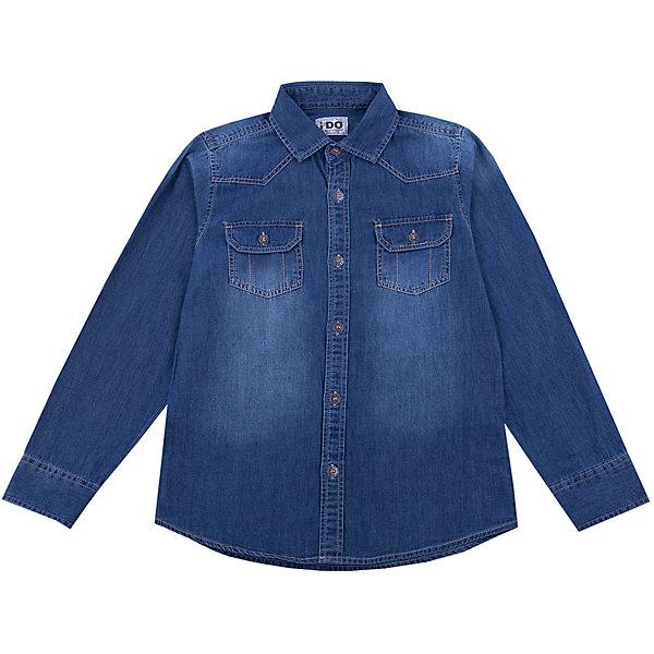 Рубашка iDO для мальчикаБлузки и рубашки<br>Рубашка iDO для мальчика<br>Рубашка с длинным рукавом из денима.<br><br>Состав: <br>100% хлопок<br>Ширина мм: 174; Глубина мм: 10; Высота мм: 169; Вес г: 157; Цвет: синий; Возраст от месяцев: 84; Возраст до месяцев: 96; Пол: Мужской; Возраст: Детский; Размер: 128,170,152,140,164; SKU: 7588689;