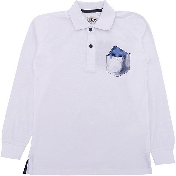 Футболка-поло iDO для мальчикаФутболки, поло и топы<br>Характеристики товара:<br><br>• цвет: белый<br>• состав ткани: 100% хлопок<br>• сезон: демисезон<br>• длинные рукава<br>• страна бренда: Италия<br><br>Белая детская футболка-поло с длинным рукавом отличается мягкими манжетами. Эта футболка-поло для ребенка - от известного итальянского бренда iDO, который известен высоким качеством и европейским стилем выпускаемой одежды для детей. Футболка-поло для мальчика поможет создать удобный и модный наряд.<br><br>Футболку-поло iDO (АйДу) для мальчика можно купить в нашем интернет-магазине.<br>Ширина мм: 199; Глубина мм: 10; Высота мм: 161; Вес г: 151; Цвет: белый; Возраст от месяцев: 84; Возраст до месяцев: 96; Пол: Мужской; Возраст: Детский; Размер: 128,170,164,152,140; SKU: 7588706;
