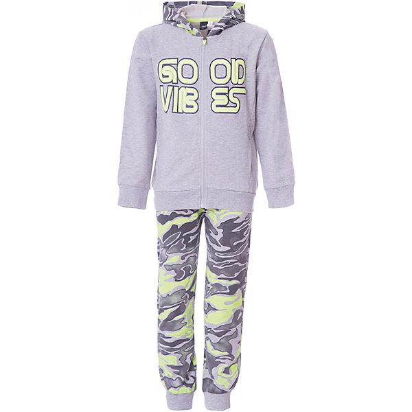 iDO Спортивный костюм iDO для мальчика спортивный костюм детский adidas i fun jog fl цвет черный серый ce9729 размер 86