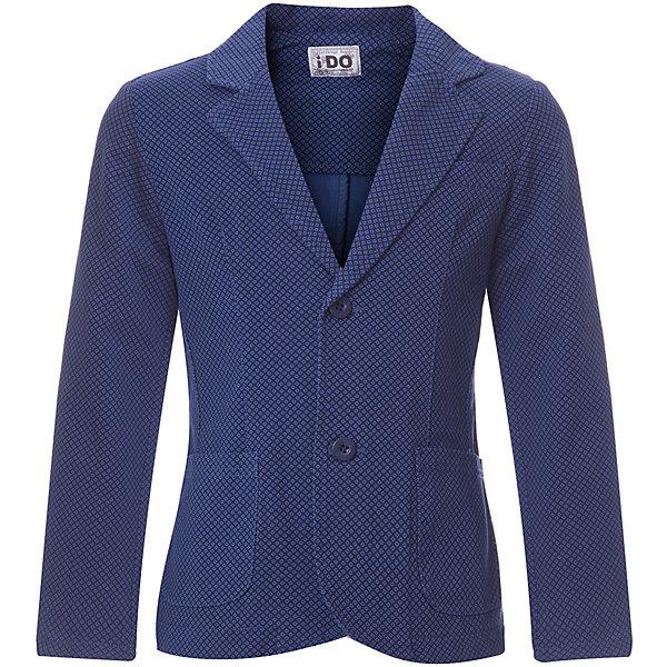 Пиджак iDO для мальчикаКостюмы и пиджаки<br>Характеристики товара:<br><br>• цвет: синий<br>• состав ткани: 100% хлопок<br>• сезон: демисезон<br>• особенности модели: школьная<br>• застежка: пуговицы<br>• длинные рукава<br>• страна бренда: Италия<br><br>Синий детский пиджак смотрится нарядно и модно. Этот пиджак для ребенка разработан итальянскими дизайнерами популярного бренда iDO, который выпускает модные и удобные вещи для детей. Пиджак для мальчика застегивается на пуговицы.<br><br>Пиджак iDO (АйДу) для мальчика можно купить в нашем интернет-магазине.<br>Ширина мм: 356; Глубина мм: 10; Высота мм: 245; Вес г: 519; Цвет: синий; Возраст от месяцев: 156; Возраст до месяцев: 168; Пол: Мужской; Возраст: Детский; Размер: 164,128,170,152,140; SKU: 7589108;