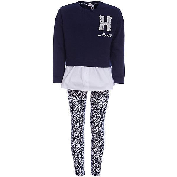 Фотография товара комплект: футболка с длинным рукавом, леггинсы iDO для девочки (7589155)