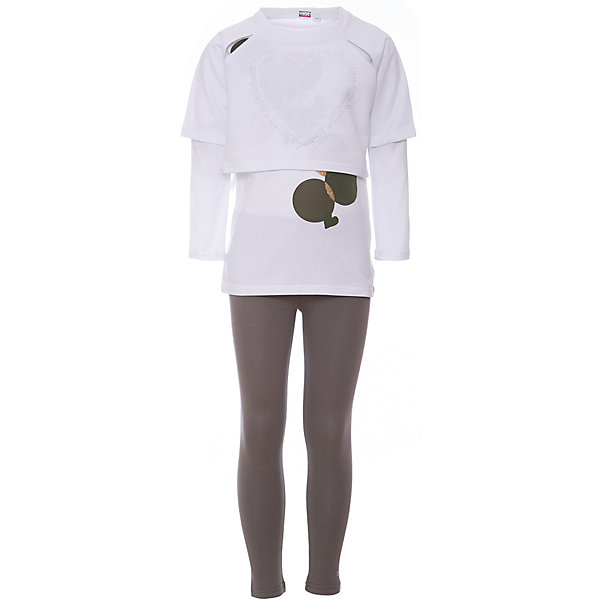 iDO Комплект: футболка с длинным рукавом, леггинсы iDO для девочки ido толстовка ido для девочки