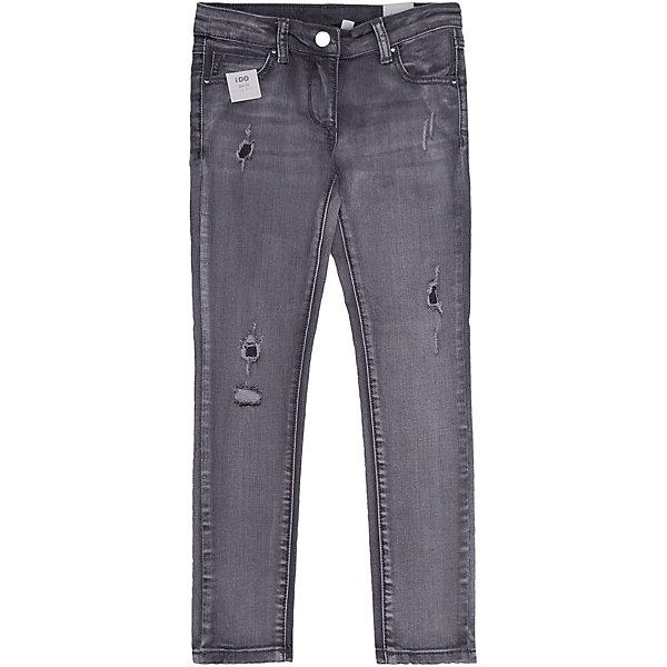 Джинсы iDO для девочкиДжинсы<br>Характеристики товара:<br><br>• цвет: синий<br>• состав ткани: 97% хлопок, 3% синтетическое волокно<br>• сезон: круглый год<br>• застежка: пуговица<br>• шлевки<br>• страна бренда: Италия<br><br>Стильные джинсы для ребенка - стильная модель от известного европейского бренда iDO, созданная с учетом последних тенденций в молодежной моде. Эти детские джинсы декорированы эффектом потертости. Такие джинсы для девочки помогут создать оригинальный и удобный наряд. <br><br>Джинсы iDO (АйДу) для девочки можно купить в нашем интернет-магазине.<br>Ширина мм: 215; Глубина мм: 88; Высота мм: 191; Вес г: 336; Цвет: темно-серый; Возраст от месяцев: 84; Возраст до месяцев: 96; Пол: Женский; Возраст: Детский; Размер: 128,170,164,158,152,146,140,134; SKU: 7589361;