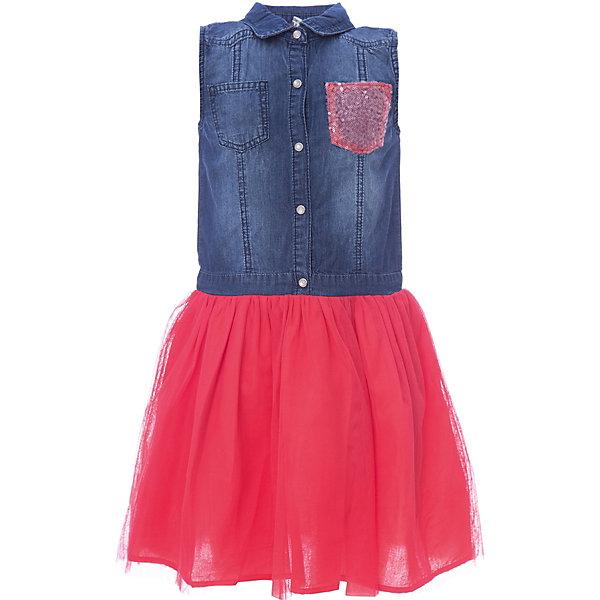 Платье iDO для девочкиПлатья и сарафаны<br>Характеристики товара:<br><br>• цвет: розовый<br>• состав ткани: 100% хлопок<br>• сезон: лето<br>• застежка: пуговицы<br>• без рукавов<br>• страна бренда: Италия<br><br>Это комбинированное детское платье состоит из джинсового верха и яркого подола. Это платье для ребенка разработано итальянскими дизайнерами популярного бренда iDO, который выпускает модные и удобные вещи для детей. Платье для девочки сделано преимущественно из мягкого дышащего натурального хлопка.<br><br>Платье iDO (АйДу) для девочки можно купить в нашем интернет-магазине.
