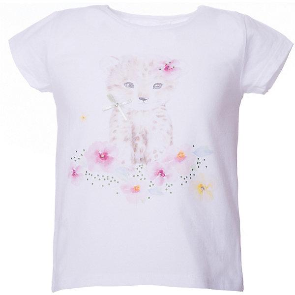 Футболка iDO для девочкиФутболки, поло и топы<br>Характеристики товара:<br><br>• цвет: белый<br>• состав ткани: 95% хлопок, 5% синтетическое волокно<br>• сезон: лето<br>• застежка: кнопки<br>• короткие рукава<br>• страна бренда: Италия<br><br>Удобная футболка для ребенка от популярного бренда iDO отличается высоким качеством материала и обработки швов. Эта футболка для девочки сделана из дышащего гипоаллергенного хлопка. Такая детская футболка отличается стильным дизайном.<br><br>Футболку iDO (АйДу) для девочки можно купить в нашем интернет-магазине.<br>Ширина мм: 199; Глубина мм: 10; Высота мм: 161; Вес г: 151; Цвет: белый; Возраст от месяцев: 24; Возраст до месяцев: 36; Пол: Женский; Возраст: Детский; Размер: 122,98,116,110,104; SKU: 7590186;