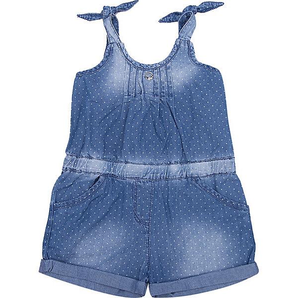 Комбинезон iDO для девочкиКомбинезоны<br>Характеристики товара:<br><br>• цвет: синий<br>• состав ткани: 100% хлопок<br>• сезон: лето<br>• без рукавов<br>• страна бренда: Италия<br><br>Легкий джинсовый комбинезон для ребенка дополнен карманами. Этот удобный комбинезон для девочки сшит из натурального хлопкового материала, который отлично подходит детям. Такой детский комбинезон от известного бренда iDO из Италии обеспечит ребенку комфорт. <br><br>Комбинезон iDO (АйДу) для девочки можно купить в нашем интернет-магазине.