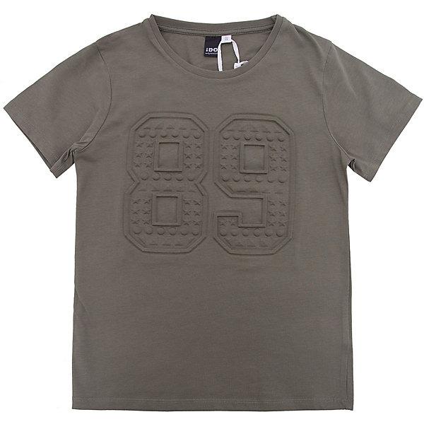 Футболка iDO для мальчикаФутболки, поло и топы<br>Характеристики товара:<br><br>• цвет: зеленый<br>• состав ткани: 95% хлопок, 5% синтетическое волокно<br>• сезон: лето<br>• короткие рукава<br>• страна бренда: Италия<br><br>Модная футболка для ребенка от популярного бренда iDO отличается высоким качеством материала и обработки швов. Эта футболка для мальчика сделана из дышащего гипоаллергенного хлопка. Такая детская футболка отличается стильным дизайном.<br><br>Футболку iDO (АйДу) для мальчика можно купить в нашем интернет-магазине.<br>Ширина мм: 199; Глубина мм: 10; Высота мм: 161; Вес г: 151; Цвет: зеленый; Возраст от месяцев: 108; Возраст до месяцев: 120; Пол: Мужской; Возраст: Детский; Размер: 140,128,170,164,152; SKU: 7590376;