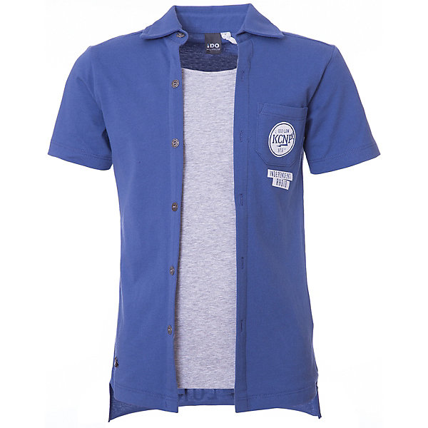 Футболка-поло iDO для мальчикаФутболки, поло и топы<br>Характеристики товара:<br><br>• цвет: голубой<br>• состав ткани: 100% хлопок<br>• сезон: лето<br>• короткие рукава<br>• страна бренда: Италия<br><br>Оригинальная хлопковая детская футболка-поло с коротким рукавом отличается стильным дизайном. Эта футболка-поло для ребенка - от известного итальянского бренда iDO, который известен высоким качеством и европейским стилем выпускаемой одежды для детей. Футболка-поло для мальчика поможет создать удобный и модный наряд.<br><br>Футболку-поло iDO (АйДу) для мальчика можно купить в нашем интернет-магазине.<br>Ширина мм: 199; Глубина мм: 10; Высота мм: 161; Вес г: 151; Цвет: голубой; Возраст от месяцев: 168; Возраст до месяцев: 180; Пол: Мужской; Возраст: Детский; Размер: 170,128,164,152,140; SKU: 7590388;