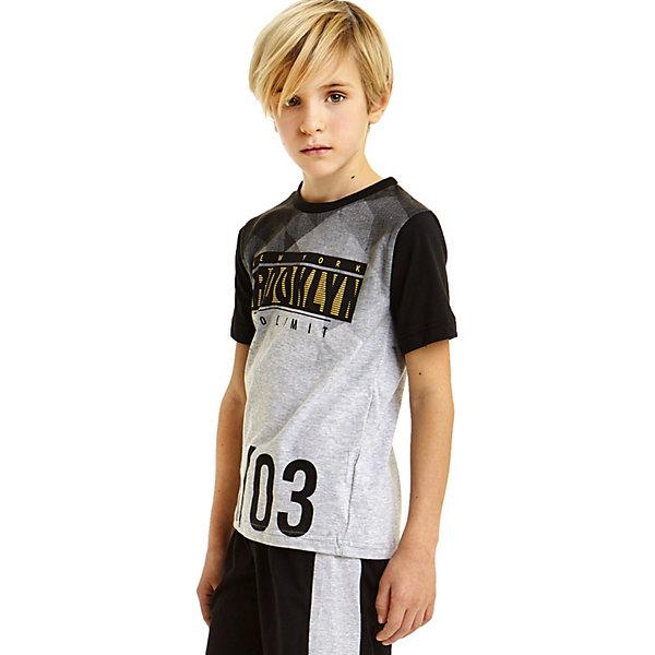 iDO Комплект: футболка, шорты iDO для мальчика комплект одежды для мальчика let s go футболка шорты цвет серый темно синий 4217 размер 86