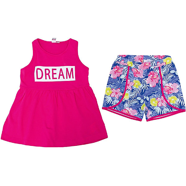 iDO Комплект: шорты, майка iDO для девочки ido комплект шорты майка ido для девочки