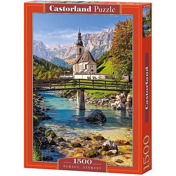 Пазл Castorland Рамзау, Германия 1500 деталейПазлы классические<br>Характеристики товара:<br><br>• возраст: от 9 лет;<br>• количество деталей: 1500 шт;<br>• материал: картон;<br>• размер упаковки: 35х25х5,2 см;<br>• размер картины: 68х47 см;<br>• вес упаковки: 600 гр.;<br>• страна производитель: Польша.<br><br>Пазл Castorland (Касторлэнд) Рамзау, Германия – это отличный способ увлекательно провести досуг, снять стресс и развить моторику.<br><br>Качество этих пазлов подтверждено миллионами любителей сборки пазлов. Пазлы Castorland собираются легко. Каждая деталь имеет индивидуальную форму и легко соединяется с другой, поэтому у Вас обязательно получится ожидаемый результат - картина собранная собственными руками.<br><br>Пазл Castorland (Касторлэнд) Рамзау, Германия можно купить в нашем интернет-магазине.<br>Ширина мм: 350; Глубина мм: 250; Высота мм: 50; Вес г: 600; Возраст от месяцев: 144; Возраст до месяцев: 2147483647; Пол: Унисекс; Возраст: Детский; SKU: 7590982;