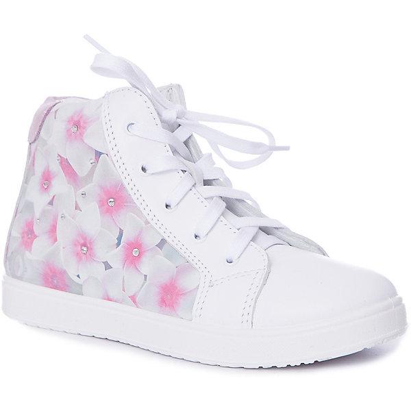Купить Ботинки Котофей для девочки, Россия, белый, Женский