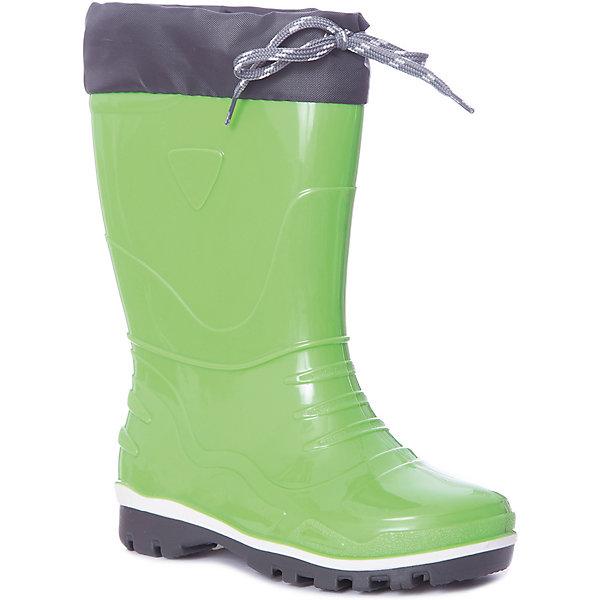Резиновые сапоги NordmanРезиновые сапоги<br>Характеристики товара:<br><br>• цвет: зеленый;<br>• модель: Step;<br>• материал: ПВХ;<br>• материал манжеты: ткань Oxford;<br>• сезон: демисезон;<br>• толстая устойчивая подошва;<br>• температурный режим: от +10° до +20° С;<br>• без утеплителя;<br>• страна бренда: Россия.<br><br>Резиновые сапоги Nordman позволяют сохранить ноги в тепле и одновременно не дают им промокнуть. Такая обувь отлично подходит и для теплого лета и для слякоти в межсезонье.<br><br>Резиновые сапоги Nordman без утеплителя выполнены из непромокаемого материала ПВХ, который защищает от дождя и слякоти. Водозащитные манжеты из ткани Окфорд защищают ногу от попадания влаги. Высокое голенище предотвращает попадание влаги или грязи в сапог. Толстая устойчивая подошва позволяет ребенку увереннее держать равновесие.<br><br>Резиновые сапоги Nordman (Нордман) можно купить в нашем интернет-магазине.<br>Ширина мм: 237; Глубина мм: 180; Высота мм: 152; Вес г: 438; Цвет: зеленый; Возраст от месяцев: 15; Возраст до месяцев: 18; Пол: Унисекс; Возраст: Детский; Размер: 22,35,34,33,32,31,30,29,28,27,26,25,24,23; SKU: 7625199;