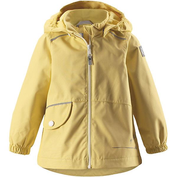 Куртка Berry Reimatec® ReimaОдежда<br>Характеристики товара:<br><br>• цвет: жёлтый;<br>• состав: 100% полиамид, полиуретановое покрытие;<br>• подкладка: 100% полиэстер;<br>• без дополнительного утепления;<br>• сезон: демисезон;<br>• температурный режим: от +5° до +15°С;<br>• водонепроницаемость: 15000 мм;<br>• воздухопроницаемость: 7000 мм;<br>• износостойкость: 40000 циклов (тест Мартиндейла);<br>• застёжка: молния с защитой подбородка;<br>• водо- и ветронепроницаемый, «дышащий» и грязеотталкивающий материал;<br>• водо- и грязеотталкивающая пропитка без содержания фторуглеродов BIONIC-FINISH®ECO;<br>• все швы проклеены и водонепроницаемы;<br>• гладкая подкладка из полиэстера;<br>• безопасный, съёмный капюшон;<br>• эластичные манжеты на рукавах;<br>• внутренняя регулировка обхвата  талии;<br>• карман на кнопке;<br>• светоотражающие детали;<br>• страна бренда: Финляндия.<br><br>Куртка Reimatec® станет отличным выбором на весну и осень. Все швы в этой куртке герметично запаяны, а сама она сшита из водо- и ветронепроницаемой и к тому же грязеотталкивающей ткани. Съемный капюшон обеспечит безопасность на прогулке, а регулируемая талия поможет подогнать куртку по фигуре. А в небольших карманах все найденные драгоценные камешки и шишки будут в целости и сохранности.<br><br>Куртку Reima от финского бренда Reima (Рейма) можно купить в нашем интернет-магазине.<br>Ширина мм: 356; Глубина мм: 10; Высота мм: 245; Вес г: 519; Цвет: серый; Возраст от месяцев: 12; Возраст до месяцев: 18; Пол: Унисекс; Возраст: Детский; Размер: 86,80,98,92; SKU: 7628273;