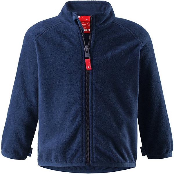 Флисовая кофта Nuoto Reima для мальчикаОдежда<br>Характеристики товара:<br><br>• цвет: синий;<br>• состав: 100% полиэстер, флис;<br>• сезон: демисезон;<br>• застёжка: молния с защитой подбородка;<br>• флисовая куртка для малышей;<br>• выводит влагу наружу;<br>• тёплый, лёгкий и быстросохнущий флис;<br>• может пристегиваться к верхней одежде Reima® кнопками Play Layers®;<br>• эластичные манжеты и подол;<br>• страна бренда: Финляндия.<br><br>Эту флисовую куртку для малышей можно использовать и в качестве промежуточного слоя, и как верхнюю одежду для прогулок в погожий день. Обратите внимание на удобную систему кнопок Play Layers®, с помощью которой легко присоединить эту куртку к разной верхней одежде из серии Reima® Play Layers и обеспечить ребенку дополнительное тепло и комфорт. <br><br>Куртка изготовлена из высококачественного полярного флиса, поэтому она теплая, легкая и быстро сохнет. Удлиненная спинка обеспечивает дополнительную защиту для поясницы, а молния во всю длину превращает одевание в легкий и веселый процесс!<br><br>Флисовую кофту Reima от финского бренда Reima (Рейма) можно купить в нашем интернет-магазине.<br>Ширина мм: 219; Глубина мм: 11; Высота мм: 262; Вес г: 314; Цвет: синий; Возраст от месяцев: 12; Возраст до месяцев: 15; Пол: Мужской; Возраст: Детский; Размер: 80,98,92,86; SKU: 7628486;
