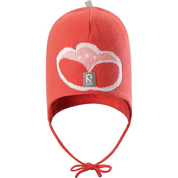 Шапка Kuplia Reima для девочкиШапки и шарфы<br>Характеристики товара:<br><br>• цвет: красный;<br>• состав: 100% хлопок;<br>• подкладка: хлопчатобумажная ткань;<br>• без дополнительного утепления;<br>• сезон: демисезон;<br>• температурный режим: от +5 до +15С;<br>• застёжка: шапка на завязках;<br>• товар сертифицирован Oeko-Tex;<br>• ветронепроницаемые вставки в области ушей;<br>• частичная подкладка: хлопчатобумажная ткань;<br>• светоотражающие элементы;<br>• страна бренда: Финляндия.<br><br>Эта шапка для малышей надежно согреет голову ребенка в ветреную весеннюю погоду. Она сшита из эластичного хлопкового трикотажа, сертифицированного по стандарту Oeko-tex. Шапка снабжена ветронепроницаемыми вставками в области ушей.<br><br>Шапку Reima от финского бренда Reima (Рейма) можно купить в нашем интернет-магазине.<br>Ширина мм: 89; Глубина мм: 117; Высота мм: 44; Вес г: 155; Цвет: красный; Возраст от месяцев: 9; Возраст до месяцев: 12; Пол: Женский; Возраст: Детский; Размер: 44,52,48; SKU: 7628784;
