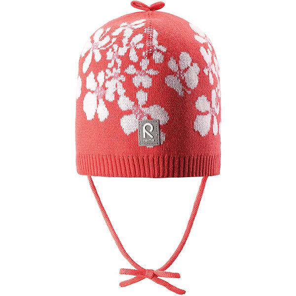 Шапка Kuohu Reima для девочкиШапки и шарфы<br>Характеристики товара:<br><br>• цвет: красный;<br>• состав: 100% хлопок;<br>• без подкладки;<br>• без дополнительного утепления;<br>• сезон: демисезон;<br>• температурный режим: от +5 до +15С;<br>• застёжка: шапка на завязках;<br>• товар сертифицирован Oeko-Tex;<br>• лёгкий стиль, без подкладки;<br>• хлопчатобумажная ткань;<br>• жаккардовая вязка;<br>• светоотражающие элементы;<br>• страна бренда: Финляндия.<br><br>Шапка из эластичного и удобного хлопкового трикотажа для малышей. Эта шапка представляет собой облегченную модель без подкладки, поэтому идеально подойдет для прохладных летних вечеров. Симпатичный рисунок отлично сочетается с расцветками курток и комбинезонов этого сезона! Шапка сертифицирована по стандарту Oeko-tex.<br><br>Шапку Reima от финского бренда Reima (Рейма) можно купить в нашем интернет-магазине.<br>Ширина мм: 89; Глубина мм: 117; Высота мм: 44; Вес г: 155; Цвет: красный; Возраст от месяцев: 9; Возраст до месяцев: 12; Пол: Женский; Возраст: Детский; Размер: 52,44,48; SKU: 7628796;