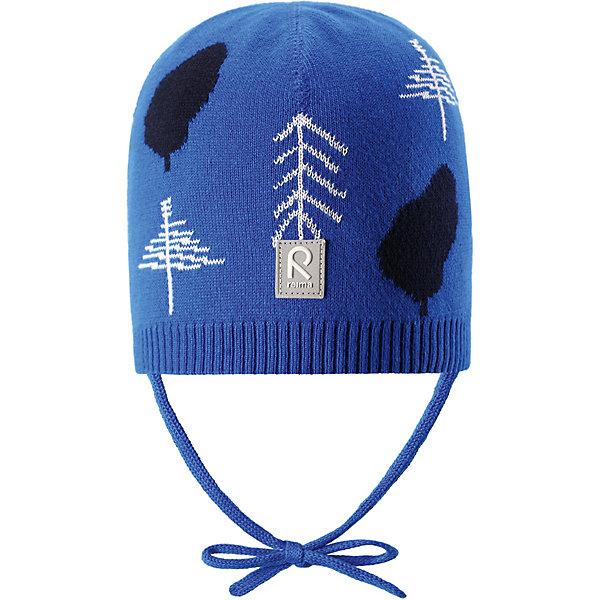 Шапка Kuohu ReimaШапки и шарфы<br>Характеристики товара:<br><br>• цвет: синий;<br>• состав: 100% хлопок;<br>• без подкладки;<br>• без дополнительного утепления;<br>• сезон: демисезон;<br>• температурный режим: от +5 до +15С;<br>• застёжка: шапка на завязках;<br>• товар сертифицирован Oeko-Tex;<br>• лёгкий стиль, без подкладки;<br>• хлопчатобумажная ткань;<br>• жаккардовая вязка;<br>• светоотражающие элементы;<br>• страна бренда: Финляндия.<br><br>Шапка из эластичного и удобного хлопкового трикотажа для малышей. Эта шапка представляет собой облегченную модель без подкладки, поэтому идеально подойдет для прохладных летних вечеров. Симпатичный рисунок отлично сочетается с расцветками курток и комбинезонов этого сезона! Шапка сертифицирована по стандарту Oeko-tex.<br><br>Шапку Reima от финского бренда Reima (Рейма) можно купить в нашем интернет-магазине.<br>Ширина мм: 89; Глубина мм: 117; Высота мм: 44; Вес г: 155; Цвет: синий; Возраст от месяцев: 9; Возраст до месяцев: 12; Пол: Унисекс; Возраст: Детский; Размер: 44,52,48; SKU: 7628800;