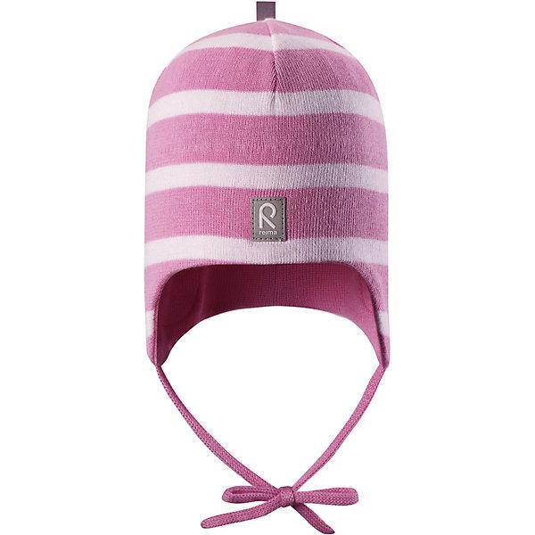 Шапка Kivi ReimaШапки и шарфы<br>Характеристики товара:<br><br>• цвет: розовый;<br>• состав: 100% хлопок;<br>• подкладка: хлопковый трикотаж;<br>• без дополнительного утепления;<br>• сезон: демисезон;<br>• температурный режим: от +5 до +15С;<br>• застёжка: шапка на завязках;<br>• специальный материал обеспечивает дополнительный комфорт;<br>• ветронепроницаемые вставки в области ушей;<br>• товар сертифицирован Oeko-Tex;<br>• частичная подкладка: хлопчатобумажная ткань;<br>• светоотражающие элементы;<br>• страна бренда: Финляндия.<br><br>Эта шапка для малышей надежно согреет голову ребенка в ветреную весеннюю погоду. Она сшита из эластичного хлопкового трикотажа и снабжена ветронепроницаемыми вставками в области ушей. Шапка сертифицирована по стандарту Oeko-tex.<br><br>Шапку Reima от финского бренда Reima (Рейма) можно купить в нашем интернет-магазине.<br>Ширина мм: 89; Глубина мм: 117; Высота мм: 44; Вес г: 155; Цвет: розовый; Возраст от месяцев: 9; Возраст до месяцев: 12; Пол: Унисекс; Возраст: Детский; Размер: 44,52,48; SKU: 7628832;