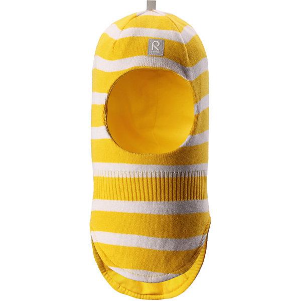 Шапка Honka ReimaШапки и шарфы<br>Характеристики товара:<br><br>• цвет: жёлтый;<br>• состав: 100% хлопок;<br>• подкладка: хлопковый трикотаж;<br>• без дополнительного утепления;<br>• сезон: демисезон;<br>• температурный режим: от +5 до +15С;<br>• без застёжки<br>• хлопчатобумажная ткань;<br>• сплошная подкладка: гладкий хлопковый трикотаж;<br>• товар сертифицирован Oeko-Tex;<br>• сплошная подкладка: хлопчатобумажная ткань;<br>• светоотражающие элементы;<br>• страна бренда: Финляндия.<br><br>Классическая детская шапка-шлем – незаменимый аксессуар, ведь она согревает не только голову, но и шею. Эта шапка-шлем сшита из эластичного и дышащего хлопкового трикотажа на подкладке из гладкого хлопкового джерси. Изделие сертифицировано по стандарту Oeko-Tex.<br><br>Шапку Reima от финского бренда Reima (Рейма) можно купить в нашем интернет-магазине.