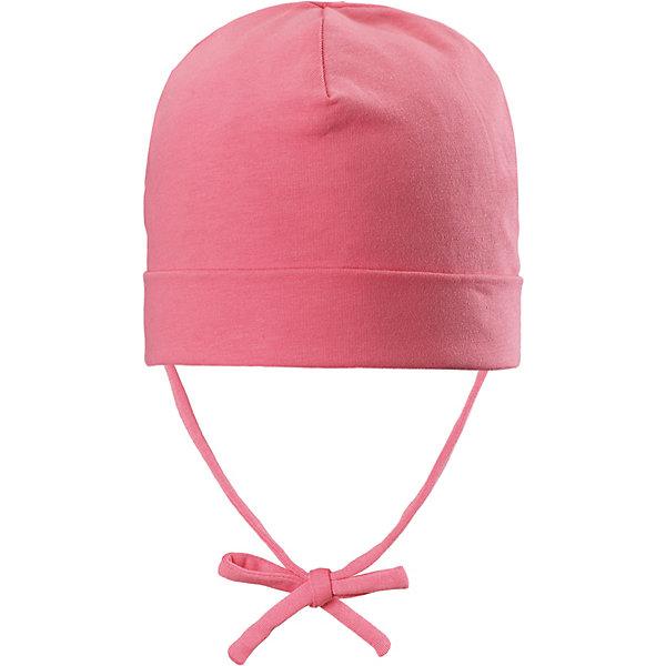 Шапка Huvi Reima для девочкиШапки и шарфы<br>Характеристики товара:<br><br>• цвет: розовый;<br>• состав: 56% хлопок, 37% полиэстер, 7% эластан;<br>• подкладка: хлопковый трикотаж;<br>• без дополнительного утепления;<br>• сезон: демисезон;<br>• температурный режим: от +5 до +15С;<br>• застёжка: шапка на завязках;<br>• быстросохнущий материал Play Jersey, приятный на ощупь;<br>• мягкий хлопчатобумажный верх, внутренняя поверхность хорошо выводит влагу;<br>• специальный материал обеспечивает дополнительный комфорт;<br>• сплошная подкладка: материал Play Jersey;<br>• выводит влагу наружу;<br>• светоотражающие элементы;<br>• страна бренда: Финляндия.<br><br>Полухлопковая шапка для малышей с подкладкой и ветронепроницаемыми вставками согреет голову вашего крохи в весеннюю пору. Она сшита из эластичного, влагоотводящего и быстросохнущего материала. <br><br>Шапку Reima от финского бренда Reima (Рейма) можно купить в нашем интернет-магазине.<br>Ширина мм: 89; Глубина мм: 117; Высота мм: 44; Вес г: 155; Цвет: розовый; Возраст от месяцев: 9; Возраст до месяцев: 12; Пол: Женский; Возраст: Детский; Размер: 44,52,48; SKU: 7628887;