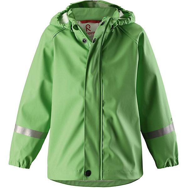 Куртка-дождевик Lampi ReimaОдежда<br>Характеристики товара:<br><br>• цвет: зелёный;<br>• состав: 100% полиамид, полиуретановое покрытие;<br>• без подкладки;<br>• без дополнительного утепления;<br>• сезон: демисезон;<br>• температурный режим: от -10 до +15С;<br>• застёжка: молния с защитой подбородка;<br>• запаянные швы, не пропускающие влагу;<br>• эластичный материал;<br>• не содержит ПВХ;<br>• безопасный, съёмный капюшон;<br>• эластичные манжеты на рукавах;<br>• светоотражающие элементы;<br>• страна бренда: Финляндия.<br><br>Детская популярная куртка-дождевик Lampi стильно смотрится и гарантирует, что плечи останутся сухими. Эластичный материал не деревенеет на морозе, поэтому этот дождевик можно носить круглый год – просто добавьте в холодную погоду теплый промежуточный слой. Съемный капюшон защитит даже от ливня, при этом он безопасен во время прогулок в дождливый день. В туманный день или в темное время суток светоотражатели будут просто незаменимы. Материал сертифицирован по стандарту Oeko-Tex и не содержит ПВХ.<br><br>Куртку Reima от финского бренда Reima (Рейма) можно купить в нашем интернет-магазине.<br>Ширина мм: 356; Глубина мм: 10; Высота мм: 245; Вес г: 519; Цвет: зеленый; Возраст от месяцев: 84; Возраст до месяцев: 96; Пол: Унисекс; Возраст: Детский; Размер: 128,86,152,146,140,134,122,116,110,104,98,92; SKU: 7632256;