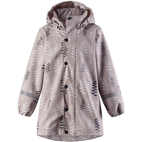 Куртка-дождевик Vatten Reima для девочкиВерхняя одежда<br>Характеристики товара:<br><br>• цвет: серый;<br>• состав: 100% полиамид, полиуретановое покрытие;<br>• без подкладки;<br>• без дополнительного утепления;<br>• сезон: демисезон;<br>• температурный режим: от -10 до +15С;<br>• застёжка: молния с защитой подбородка;<br>• запаянные швы, не пропускающие влагу;<br>• эластичный материал;<br>• не содержит ПВХ;<br>• безопасный, съёмный капюшон;<br>• эластичные манжеты на рукавах;<br>• трапециевидная форма с удлиненным сзади подолом;<br>• светоотражающие элементы;<br>• страна бренда: Финляндия.<br><br>Детская куртка-дождевик изготовлена из удобного, эластичного материала, не содержащего ПВХ. Швы запаяны и абсолютно водонепроницаемы. Новый трапециевидный силуэт с удлиненной спинкой обеспечивает эффективную защиту от дождя. Куртка-дождевик не деревенеет на морозе, поэтому ее можно носить круглый год – просто добавьте в холодную погоду теплый промежуточный слой. Съемный капюшон защитит даже от ливня, при этом он безопасен во время прогулок в дождливый день. Молния спереди во всю длину и множество светоотражающих деталей.<br><br>Куртку Reima от финского бренда Reima (Рейма) можно купить в нашем интернет-магазине.<br>Ширина мм: 356; Глубина мм: 10; Высота мм: 245; Вес г: 519; Цвет: белый; Возраст от месяцев: 36; Возраст до месяцев: 48; Пол: Женский; Возраст: Детский; Размер: 104,152,146,140,134,128,122,116,110; SKU: 7632269;