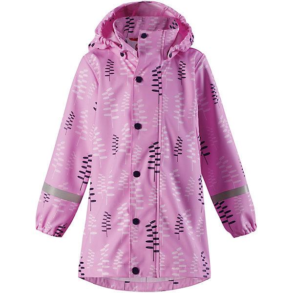 Куртка-дождевик Vatten Reima для девочкиОдежда<br>Характеристики товара:<br><br>• цвет: розовый;<br>• состав: 100% полиамид, полиуретановое покрытие;<br>• без подкладки;<br>• без дополнительного утепления;<br>• сезон: демисезон;<br>• температурный режим: от -10 до +15С;<br>• застёжка: молния с защитой подбородка;<br>• запаянные швы, не пропускающие влагу;<br>• эластичный материал;<br>• не содержит ПВХ;<br>• безопасный, съёмный капюшон;<br>• эластичные манжеты на рукавах;<br>• трапециевидная форма с удлиненным сзади подолом;<br>• светоотражающие элементы;<br>• страна бренда: Финляндия.<br><br>Детская куртка-дождевик изготовлена из удобного, эластичного материала, не содержащего ПВХ. Швы запаяны и абсолютно водонепроницаемы. Новый трапециевидный силуэт с удлиненной спинкой обеспечивает эффективную защиту от дождя. Куртка-дождевик не деревенеет на морозе, поэтому ее можно носить круглый год – просто добавьте в холодную погоду теплый промежуточный слой. Съемный капюшон защитит даже от ливня, при этом он безопасен во время прогулок в дождливый день. Молния спереди во всю длину и множество светоотражающих деталей.<br><br>Куртку Reima от финского бренда Reima (Рейма) можно купить в нашем интернет-магазине.<br>Ширина мм: 398; Глубина мм: 271; Высота мм: 86; Вес г: 446; Цвет: розовый; Возраст от месяцев: 84; Возраст до месяцев: 96; Пол: Женский; Возраст: Детский; Размер: 128,122,116,110,104,152,146,140,134; SKU: 7632279;