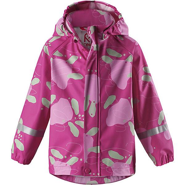 Куртка-дождевик Vesi ReimaОдежда<br>Характеристики товара:<br><br>• цвет: розовый принт;<br>• состав: 100% полиамид, полиуретановое покрытие;<br>• без подкладки;<br>• без дополнительного утепления;<br>• сезон: демисезон;<br>• температурный режим: от -10 до +15С;<br>• застёжка: молния с защитой подбородка;<br>• запаянные швы, не пропускающие влагу;<br>• эластичный материал;<br>• не содержит ПВХ;<br>• безопасный, съёмный капюшон;<br>• эластичные манжеты на рукавах;<br>• светоотражающие элементы;<br>• страна бренда: Финляндия.<br><br>Детская куртка-дождевик изготовлена из удобного, эластичного материала, не содержащего ПВХ. Швы запаяны и абсолютно водонепроницаемы. Куртка-дождевик не деревенеет на морозе, поэтому ее можно носить круглый год – просто добавьте в холодную погоду теплый промежуточный слой. Съемный капюшон защитит даже от ливня, при этом он безопасен во время прогулок в дождливый день. Молния спереди во всю длину и множество светоотражающих деталей. <br><br>Куртку Reima от финского бренда Reima (Рейма) можно купить в нашем интернет-магазине.<br>Ширина мм: 356; Глубина мм: 10; Высота мм: 245; Вес г: 519; Цвет: розовый; Возраст от месяцев: 12; Возраст до месяцев: 18; Пол: Унисекс; Возраст: Детский; Размер: 86,140,134,128,122,116,110,104,98,92; SKU: 7632299;
