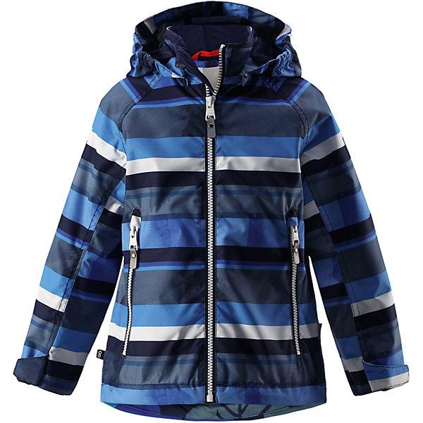 Куртка Schiff Reimatec® Reima для мальчикаОдежда<br>Характеристики товара:<br><br>• цвет: синий в полоску;<br>• состав: 100% полиамид, полиуретановое покрытие;<br>• подкладка: 100% полиэстер;<br>• без дополнительного утепления;<br>• сезон: демисезон;<br>• температурный режим: от +5° до +15°С;<br>• водонепроницаемость: 8000 мм;<br>• воздухопроницаемость: 7000 мм;<br>• износостойкость: 30000 циклов (тест Мартиндейла);<br>• застёжка: молния с защитой подбородка;<br>• водо- и ветронепроницаемый, «дышащий» и грязеотталкивающий материал;<br>• водо- и грязеотталкивающая пропитка без содержания фторуглеродов BIONIC-FINISH®ECO;<br>• основные швы проклеены и водонепроницаемы;<br>• подкладка из mesh-сетки;<br>• безопасный, съёмный капюшон;<br>• регулируемые манжеты и подол;<br>• карман со специальными креплениями для сенсора ReimaGO® в моделях 104 размера и более;<br>• два кармана на молнии;<br>• светоотражающие детали;<br>• страна бренда: Финляндия.<br><br>Все основные швы в этой демисезонной детской куртке Reimatec® герметично запаяны, а сама она сшита из водо- и ветронепроницаемого, грязеотталкивающего, но при этом дышащего материала. Безопасный съемный капюшон легко отстегивается, если случайно за что-нибудь зацепится, а ключи от дома будут надежно спрятаны в карманах на молнии. Благодаря регулируемым манжетам и подолу куртка хорошо прилегает к телу и не пропускает ветер.<br><br>Куртку Reima от финского бренда Reima (Рейма) можно купить в нашем интернет-магазине.<br>Ширина мм: 356; Глубина мм: 10; Высота мм: 245; Вес г: 519; Цвет: синий; Возраст от месяцев: 36; Возраст до месяцев: 48; Пол: Мужской; Возраст: Детский; Размер: 104,152,146,140,134,128,122,116,110; SKU: 7632364;