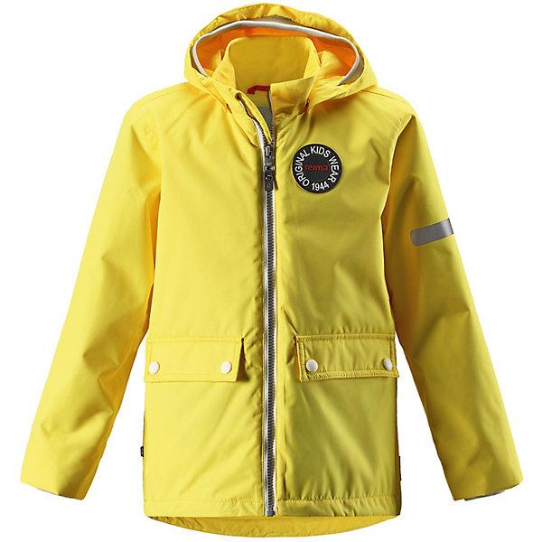 Куртка Taag Reimatec® ReimaОдежда<br>Характеристики товара:<br><br>• цвет: жёлтый;<br>• состав: 100% полиамид, полиуретановое покрытие;<br>• подкладка: 100% полиэстер;<br>• без дополнительного утепления;<br>• сезон: демисезон;<br>• температурный режим: от +5° до +15°С;<br>• водонепроницаемость: 8000 мм;<br>• воздухопроницаемость: 7000 мм;<br>• износостойкость: 30000 циклов (тест Мартиндейла);<br>• застёжка: молния с защитой подбородка;<br>• водо- и ветронепроницаемый, «дышащий» и грязеотталкивающий материал;<br>• водо- и грязеотталкивающая пропитка без содержания фторуглеродов BIONIC-FINISH®ECO;<br>• основные швы проклеены и водонепроницаемы;<br>• внутренняя отстёгивающаяся жилетка;<br>• гладкая подкладка из полиэстера;<br>• безопасный, съёмный капюшон;<br>• мягкая резинка на кромке капюшона и манжетах;<br>• регулируемый подол;<br>• карман со специальными креплениями для сенсора ReimaGO® в моделях 104 размера и более;<br>• два кармана на кнопках;<br>• светоотражающие детали;<br>• страна бренда: Финляндия.<br><br>В детской демисезонной куртке с рисунком, посвященным юбилею Reima®, дождь не страшен – все основные швы проклеены, водонепроницаемы. Куртка со съемной стеганой подкладкой – незаменимая вещь для осенней поры, а когда похолодает, просто подденьте теплый промежуточный слой, и куртка превратится в отличный зимний наряд. <br>Подол в этой ретро-куртке прямого покроя легко регулируется, что позволяет подогнать куртку идеально по фигуре. Большие карманы с клапанами и светоотражающие детали выполнены в ретро-стиле 70-х, вместе с мягкой резинкой на манжетах и по краю капюшона они придают образу изюминку.<br><br>Куртку Reima от финского бренда Reima (Рейма) можно купить в нашем интернет-магазине.<br>Ширина мм: 356; Глубина мм: 10; Высота мм: 245; Вес г: 519; Цвет: желтый; Возраст от месяцев: 18; Возраст до месяцев: 24; Пол: Унисекс; Возраст: Детский; Размер: 92,164,158,152,146,140,134,128,122,116,110,104,98; SKU: 7632374;