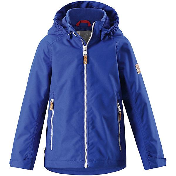Куртка Soutu Reimatec® Reima для мальчикаОдежда<br>Характеристики товара:<br><br>• цвет: синий;<br>• состав: 100% полиамид, полиуретановое покрытие;<br>• подкладка: 100% полиэстер;<br>• без дополнительного утепления;<br>• сезон: демисезон;<br>• температурный режим: от +5° до +15°С;<br>• водонепроницаемость: 8000 мм;<br>• воздухопроницаемость: 7000 мм;<br>• износостойкость: 30000 циклов (тест Мартиндейла);<br>• застёжка: молния с защитой подбородка;<br>• водо- и ветронепроницаемый, «дышащий» и грязеотталкивающий материал;<br>• водо- и грязеотталкивающая пропитка без содержания фторуглеродов BIONIC-FINISH®ECO;<br>• основные швы проклеены и водонепроницаемы;<br>• подкладка из mesh-сетки;<br>• безопасный, съёмный капюшон;<br>• регулируемый подол и манжеты;<br>• карман со специальными креплениями для сенсора ReimaGO® в моделях 104 размера и более;<br>• два кармана на молнии;<br>• светоотражающие детали;<br>• страна бренда: Финляндия.<br><br>Все основные швы в этой демисезонной детской куртке Reimatec® герметично запаяны, а сама она сшита из водо- и ветронепроницаемого, грязеотталкивающего, но при этом дышащего материала. Безопасный съемный капюшон легко отстегивается, если случайно за что-нибудь зацепится, а ключи от дома будут надежно спрятаны в карманах на молнии. Благодаря регулируемым манжетам и подолу куртка хорошо прилегает к телу и не пропускает ветер.<br><br>Куртку Reima от финского бренда Reima (Рейма) можно купить в нашем интернет-магазине.<br>Ширина мм: 356; Глубина мм: 10; Высота мм: 245; Вес г: 519; Цвет: синий; Возраст от месяцев: 84; Возраст до месяцев: 96; Пол: Унисекс; Возраст: Детский; Размер: 128,140,122,134,116,110,104,98,92,152,146; SKU: 7632456;