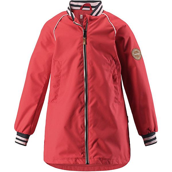 Куртка Asteri Reima для девочкиОдежда<br>Характеристики товара:<br><br>• цвет: красный;<br>• состав: 100% полиамид, полиуретановое покрытие;<br>• подкладка: 100% полиэстер;<br>• без дополнительного утепления;<br>• сезон: демисезон;<br>• температурный режим: от +5° до +15°С;<br>• водонепроницаемость: 8000 мм;<br>• воздухопроницаемость: 7000 мм;<br>• износостойкость: 30000 циклов (тест Мартиндейла);<br>• застёжка: молния с защитой подбородка;<br>• водо- и ветронепроницаемый, «дышащий» и грязеотталкивающий материал;<br>• водо- и грязеотталкивающая пропитка без содержания фторуглеродов BIONIC-FINISH®ECO;<br>• гладкая подкладка из полиэстера;<br>• регулируемый воротник;<br>• эластичные манжеты;<br>• эластичный пояс сзади;<br>• карман со специальными креплениями для сенсора ReimaGO® в моделях 104 размера и более;<br>• два боковых кармана;<br>• светоотражающие детали;<br>• страна бренда: Финляндия.<br><br>Новая детская куртка для города. Она не только стильно смотрится, но еще и сшита из водо- и ветронепроницаемого, дышащего и грязеотталкивающего материала. А за счет эластичного пояса на спинке она отлично сидит по фигуре. Дизайн модели довершают полосатый воротник и манжеты на резинке!<br><br>Куртку Reima от финского бренда Reima (Рейма) можно купить в нашем интернет-магазине.<br>Ширина мм: 356; Глубина мм: 10; Высота мм: 245; Вес г: 519; Цвет: красный; Возраст от месяцев: 36; Возраст до месяцев: 48; Пол: Женский; Возраст: Детский; Размер: 104,164,158,152,146,140,134,128,122,116,110; SKU: 7632542;