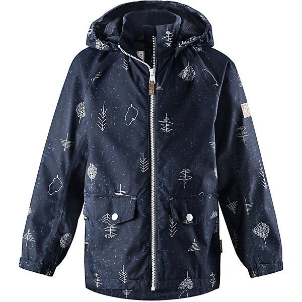 Куртка Arri Reimatec® Reima для мальчикаХарактеристики товара:<br><br>• цвет: тёмно-синий;<br>• состав: 100% полиамид, полиуретановое покрытие;<br>• подкладка: 100% полиэстер;<br>• без дополнительного утепления;<br>• сезон: демисезон;<br>• температурный режим: от +5° до +15°С;<br>• водонепроницаемость: 5000 мм;<br>• воздухопроницаемость: 4000 мм;<br>• износостойкость: 15000 циклов (тест Мартиндейла);<br>• застёжка: молния с защитой подбородка;<br>• водо- и ветронепроницаемый, «дышащий» и грязеотталкивающий материал;<br>• основные швы проклеены и водонепроницаемы;<br>• гладкая подкладка из полиэстера;<br>• безопасный, съёмный капюшон;<br>• регулируемые манжеты и подол;<br>• карман со специальными креплениями для сенсора ReimaGO® в моделях 104 размера и более;<br>• два кармана на кнопках;<br>• светоотражающие детали;<br>• страна бренда: Финляндия.<br><br>Параметры изделия: <br>• объем груди: 92 см<br>• длина по спинке: 66 см<br>• длина рукава с учетом плеча: 64 см<br>• высота капюшона: 32 см<br>• глубина капюшона: 24 см <br><br>Все основные швы в этой демисезонной детской куртке Reimatec® герметично запаяны, а сама она сшита из водо- и ветронепроницаемого, грязеотталкивающего, но при этом дышащего материала. Безопасный съемный капюшон легко отстегивается, если случайно за что-нибудь зацепится. За счет регулируемых манжет и подола куртка будет отлично сидеть, а два кармана с клапанами пригодятся для разных мелочей.<br><br>Куртку Reima от финского бренда Reima (Рейма) можно купить в нашем интернет-магазине.