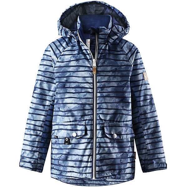Куртка Arri Reimatec® Reima для мальчикаОдежда<br>Характеристики товара:<br><br>• цвет: синий в полоску;<br>• состав: 100% полиамид, полиуретановое покрытие;<br>• подкладка: 100% полиэстер;<br>• без дополнительного утепления;<br>• сезон: демисезон;<br>• температурный режим: от +5° до +15°С;<br>• водонепроницаемость: 5000 мм;<br>• воздухопроницаемость: 4000 мм;<br>• износостойкость: 15000 циклов (тест Мартиндейла);<br>• застёжка: молния с защитой подбородка;<br>• водо- и ветронепроницаемый, «дышащий» и грязеотталкивающий материал;<br>• основные швы проклеены и водонепроницаемы;<br>• гладкая подкладка из полиэстера;<br>• безопасный, съёмный капюшон;<br>• регулируемые манжеты и подол;<br>• карман со специальными креплениями для сенсора ReimaGO® в моделях 104 размера и более;<br>• два кармана на кнопках;<br>• светоотражающие детали;<br>• страна бренда: Финляндия.<br><br>Все основные швы в этой демисезонной детской куртке Reimatec® герметично запаяны, а сама она сшита из водо- и ветронепроницаемого, грязеотталкивающего, но при этом дышащего материала. Безопасный съемный капюшон легко отстегивается, если случайно за что-нибудь зацепится. За счет регулируемых манжет и подола куртка будет отлично сидеть, а два кармана с клапанами пригодятся для разных мелочей.<br><br>Куртку Reima от финского бренда Reima (Рейма) можно купить в нашем интернет-магазине.<br>Ширина мм: 356; Глубина мм: 10; Высота мм: 245; Вес г: 519; Цвет: синий; Возраст от месяцев: 18; Возраст до месяцев: 24; Пол: Унисекс; Возраст: Детский; Размер: 92,152,146,140,134,128,122,116,110,104,98; SKU: 7632578;