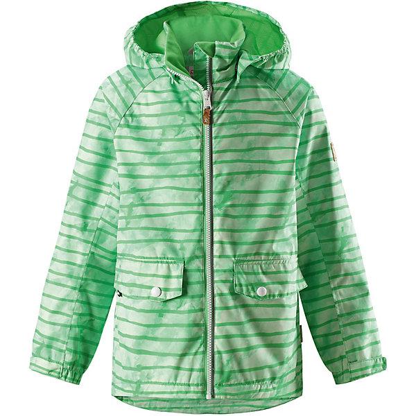 Куртка Arri Reimatec® Reima для мальчикаОдежда<br>Характеристики товара:<br><br>• цвет: зелёный в полоску;<br>• состав: 100% полиамид, полиуретановое покрытие;<br>• подкладка: 100% полиэстер;<br>• без дополнительного утепления;<br>• сезон: демисезон;<br>• температурный режим: от +5° до +15°С;<br>• водонепроницаемость: 5000 мм;<br>• воздухопроницаемость: 4000 мм;<br>• износостойкость: 15000 циклов (тест Мартиндейла);<br>• застёжка: молния с защитой подбородка;<br>• водо- и ветронепроницаемый, «дышащий» и грязеотталкивающий материал;<br>• основные швы проклеены и водонепроницаемы;<br>• гладкая подкладка из полиэстера;<br>• безопасный, съёмный капюшон;<br>• регулируемые манжеты и подол;<br>• карман со специальными креплениями для сенсора ReimaGO® в моделях 104 размера и более;<br>• два кармана на кнопках;<br>• светоотражающие детали;<br>• страна бренда: Финляндия.<br><br>Все основные швы в этой демисезонной детской куртке Reimatec® герметично запаяны, а сама она сшита из водо- и ветронепроницаемого, грязеотталкивающего, но при этом дышащего материала. Безопасный съемный капюшон легко отстегивается, если случайно за что-нибудь зацепится. За счет регулируемых манжет и подола куртка будет отлично сидеть, а два кармана с клапанами пригодятся для разных мелочей.<br><br>Куртку Reima от финского бренда Reima (Рейма) можно купить в нашем интернет-магазине.<br>Ширина мм: 356; Глубина мм: 10; Высота мм: 245; Вес г: 519; Цвет: зеленый; Возраст от месяцев: 18; Возраст до месяцев: 24; Пол: Унисекс; Возраст: Детский; Размер: 92,152,146,140,134,128,122,116,110,104,98; SKU: 7632602;