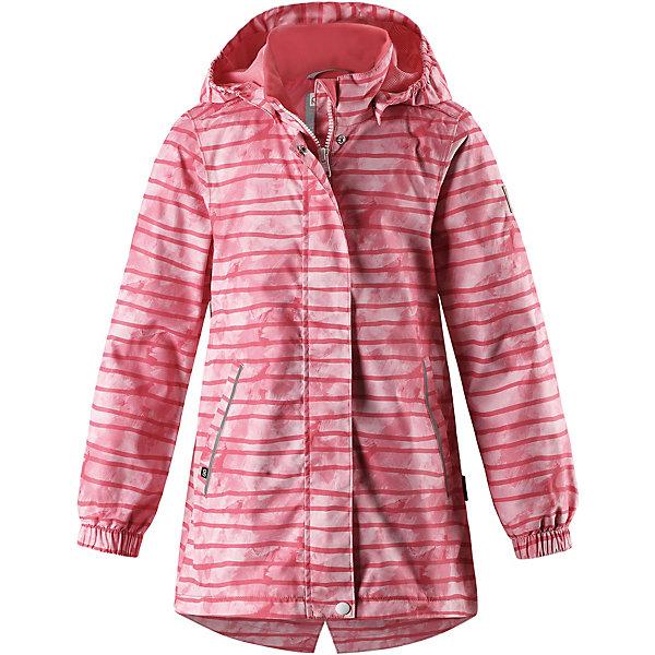 Куртка Aava Reimatec® Reima для девочкиОдежда<br>Характеристики товара:<br><br>• цвет: розовый в полоску;<br>• состав: 100% полиамид, полиуретановое покрытие;<br>• подкладка: 100% полиэстер;<br>• без дополнительного утепления;<br>• сезон: демисезон;<br>• температурный режим: от +5° до +15°С;<br>• водонепроницаемость: 5000 мм;<br>• воздухопроницаемость: 4000 мм;<br>• износостойкость: 15000 циклов (тест Мартиндейла);<br>• застёжка: молния с защитой подбородка;<br>• водо- и ветронепроницаемый, «дышащий» и грязеотталкивающий материал;<br>• основные швы проклеены и водонепроницаемы;<br>• гладкая подкладка из полиэстера;<br>• безопасный, съёмный капюшон;<br>• эластичные манжеты на рукавах;<br>• внутренняя регулировка обхвата талии;<br>• карман со специальными креплениями для сенсора ReimaGO® в моделях 104 размера и более;<br>• два боковых кармана;<br>• светоотражающие детали;<br>• страна бренда: Финляндия.<br><br>Все основные швы в этой демисезонной детской куртке Reimatec® герметично запаяны, а сама она сшита из водо- и ветронепроницаемого, грязеотталкивающего, но при этом дышащего материала. Безопасный съемный капюшон легко отстегивается, если случайно за что-нибудь зацепится. За счет эластичных манжет и регулируемой талии она будет отлично сидеть по фигуре. Новые красивые рисунки!<br><br>Куртку Reima от финского бренда Reima (Рейма) можно купить в нашем интернет-магазине.<br>Ширина мм: 356; Глубина мм: 10; Высота мм: 245; Вес г: 519; Цвет: розовый; Возраст от месяцев: 18; Возраст до месяцев: 24; Пол: Женский; Возраст: Детский; Размер: 92,152,146,140,134,128,122,116,110,104,98; SKU: 7632614;