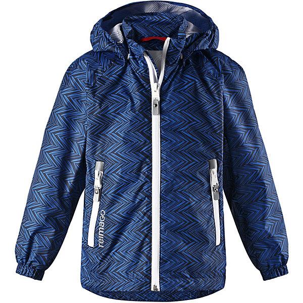 Куртка Zigzag Reimatec® Reima для мальчикаВерхняя одежда<br>Характеристики товара:<br><br>• цвет: синий;<br>• состав: 100% полиамид, полиуретановое покрытие;<br>• подкладка: 100% полиэстер;<br>• без дополнительного утепления;<br>• сезон: демисезон;<br>• температурный режим: от +5° до +15°С;<br>• водонепроницаемость: 5000 мм;<br>• воздухопроницаемость: 11000 мм;<br>• износостойкость: 5000 циклов (тест Мартиндейла);<br>• застёжка: молния с защитой подбородка;<br>• все швы проклеены и водонепроницаемы;<br>• ветронепроницаемый, дышащий материал;<br>• подкладка из mesh-сетки;<br>• безопасный съёмный капюшон;<br>• эластичные манжеты на рукавах;<br>• регулируемый подол;<br>• карман со специальными креплениями для сенсора ReimaGO® в моделях 104 размера и более<br>• карманы на молнии;<br>• светоотражающие детали;<br>• страна бренда: Финляндия.<br><br>Все основные швы в этой демисезонной детской куртке Reimatec® герметично запаяны, а сама она сшита из водо- и ветронепроницаемого, грязеотталкивающего, но при этом дышащего материала. Безопасный съемный капюшон легко отстегивается, если случайно за что-нибудь зацепится. За счет регулируемых манжет и подола куртка будет отлично сидеть, а два кармана на молнии пригодятся для хранения разных мелочей.<br><br>Куртку Reima от финского бренда Reima (Рейма) можно купить в нашем интернет-магазине.<br>Ширина мм: 356; Глубина мм: 10; Высота мм: 245; Вес г: 519; Цвет: синий; Возраст от месяцев: 18; Возраст до месяцев: 24; Пол: Мужской; Возраст: Детский; Размер: 92,140,134,128,122,116,110,104,98; SKU: 7632742;