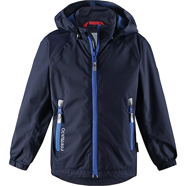Куртка Zigzag Reimatec® Reima для мальчикаОдежда<br>Характеристики товара:<br><br>• цвет: тёмно-синий;<br>• состав: 100% полиамид, полиуретановое покрытие;<br>• подкладка: 100% полиэстер;<br>• без дополнительного утепления;<br>• сезон: демисезон;<br>• температурный режим: от +5° до +15°С;<br>• водонепроницаемость: 5000 мм;<br>• воздухопроницаемость: 11000 мм;<br>• износостойкость: 5000 циклов (тест Мартиндейла);<br>• застёжка: молния с защитой подбородка;<br>• все швы проклеены и водонепроницаемы;<br>• ветронепроницаемый, дышащий материал;<br>• подкладка из mesh-сетки;<br>• безопасный съёмный капюшон;<br>• эластичные манжеты на рукавах;<br>• регулируемый подол;<br>• карман со специальными креплениями для сенсора ReimaGO® в моделях 104 размера и более<br>• карманы на молнии;<br>• светоотражающие детали;<br>• страна бренда: Финляндия.<br><br>Все основные швы в этой демисезонной детской куртке Reimatec® герметично запаяны, а сама она сшита из водо- и ветронепроницаемого, грязеотталкивающего, но при этом дышащего материала. Безопасный съемный капюшон легко отстегивается, если случайно за что-нибудь зацепится. За счет регулируемых манжет и подола куртка будет отлично сидеть, а два кармана на молнии пригодятся для хранения разных мелочей.<br><br>Куртку Reima от финского бренда Reima (Рейма) можно купить в нашем интернет-магазине.<br>Ширина мм: 356; Глубина мм: 10; Высота мм: 245; Вес г: 519; Цвет: синий; Возраст от месяцев: 18; Возраст до месяцев: 24; Пол: Мужской; Возраст: Детский; Размер: 92,140,134,128,122,116,110,104,98; SKU: 7632752;